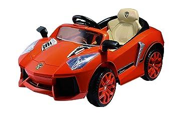 Toyhouse Lambhorghini Rechargeable Battery Operated Ride On, Orange Toy Cars & Trucks at amazon