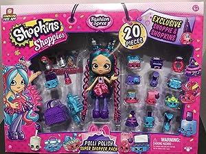 Shopkins Shoppies Food Fair Exclusive 20 Piece Polli Polish Super Shopper Pack