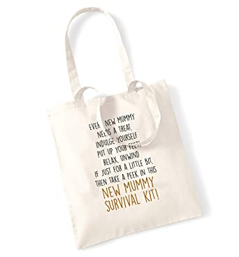 eddbc63f51 New mummy survival kit tote bag  Amazon.co.uk  Clothing