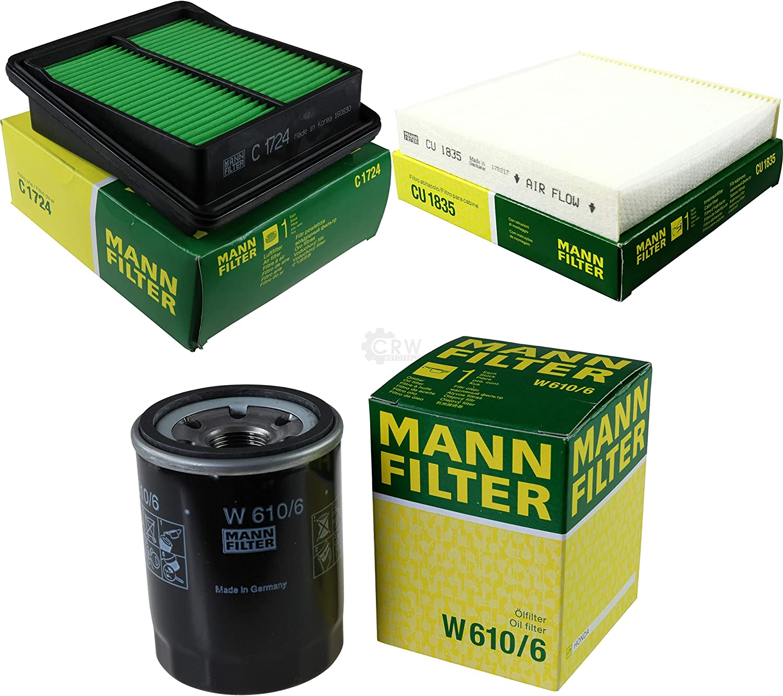 Mann Filter Inspektions Set Inspektionspaket Luftfilter Ölfilter Innenraumfilter Auto