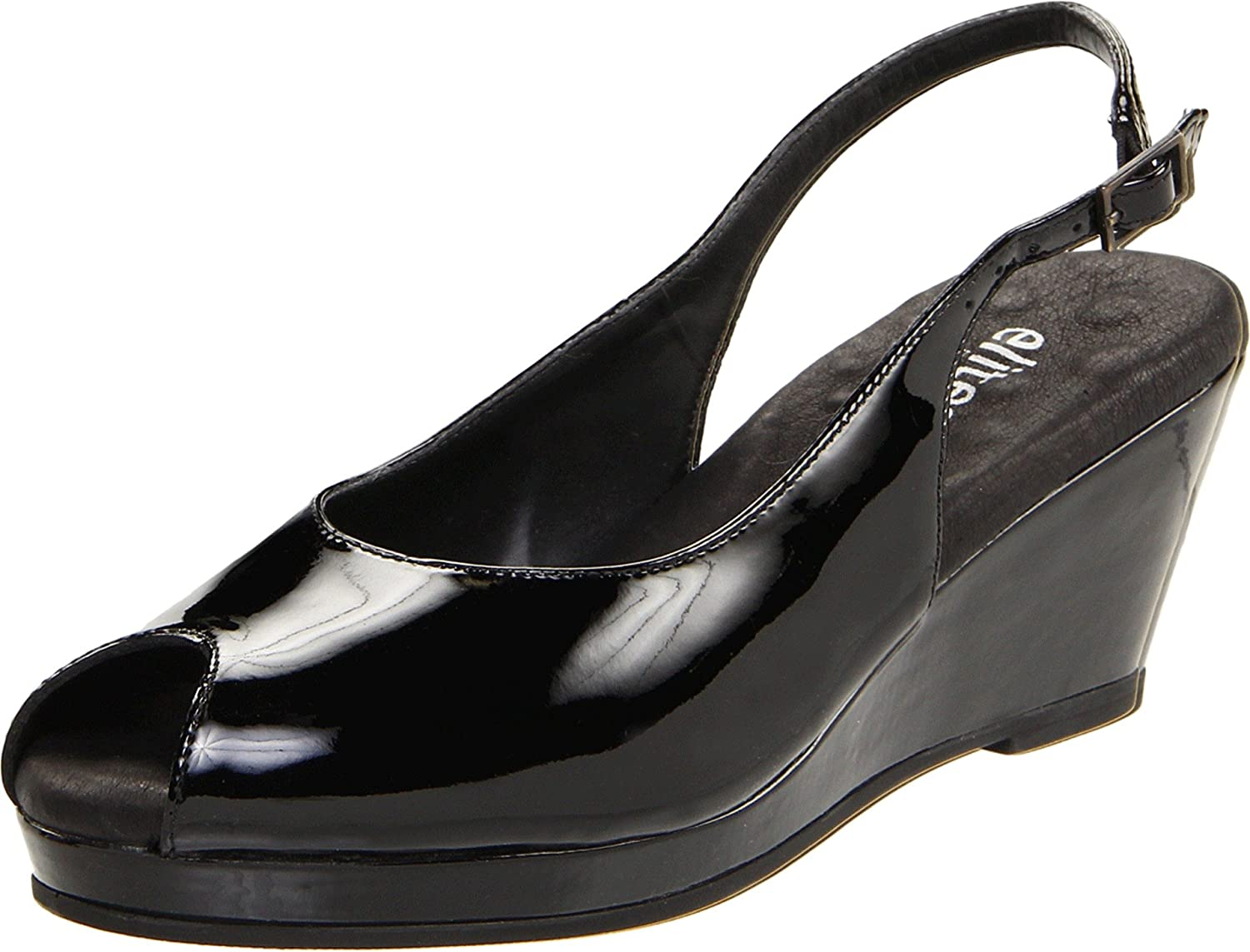 Walking Cradles Women's Natasha Pump B001A38SBY 7 W US|Black Patent