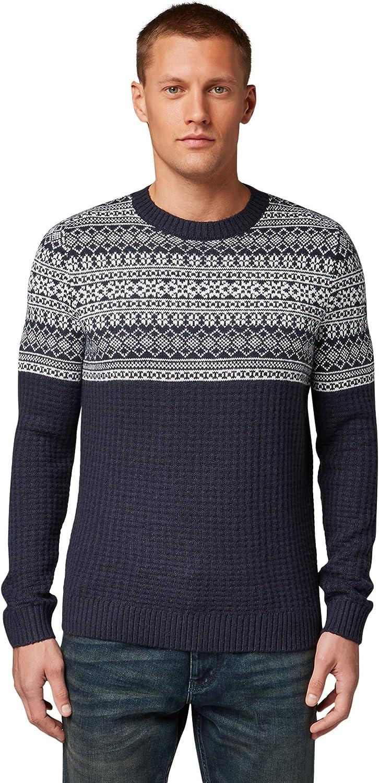 TOM TAILOR Herren Pullover /& Strickjacken Pullover mit winterlichem Strickdesign