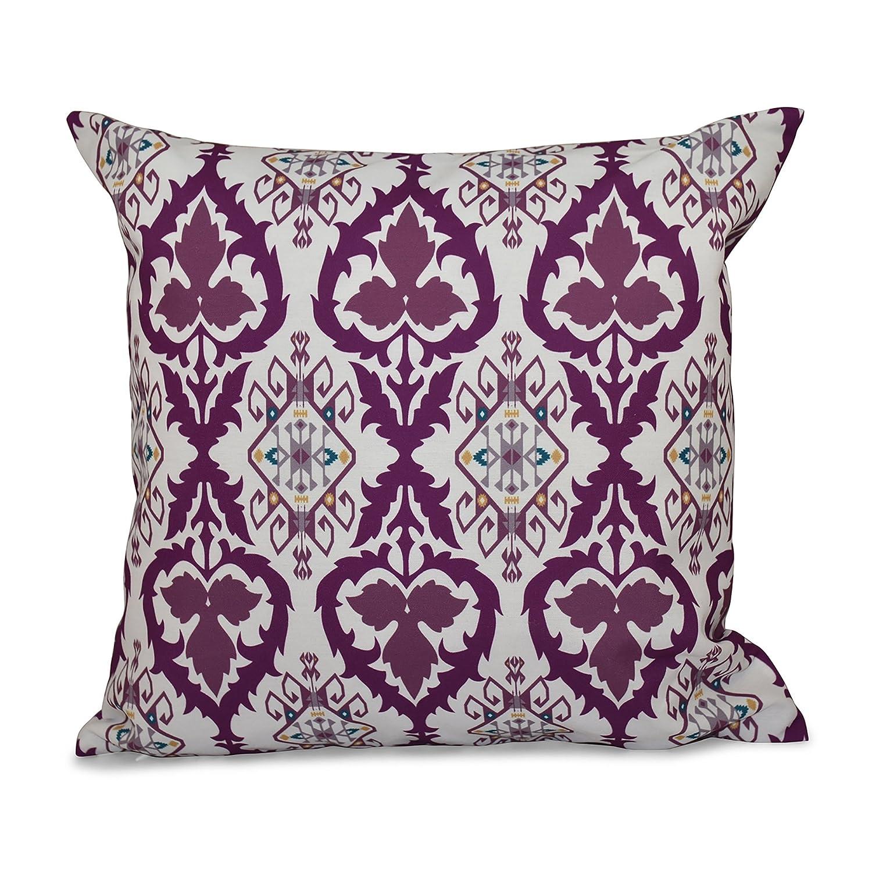 Bombay E by design PGN538PP2PU5-18 18 x 18-inch Geometric Print Pillow 18x18 Purple