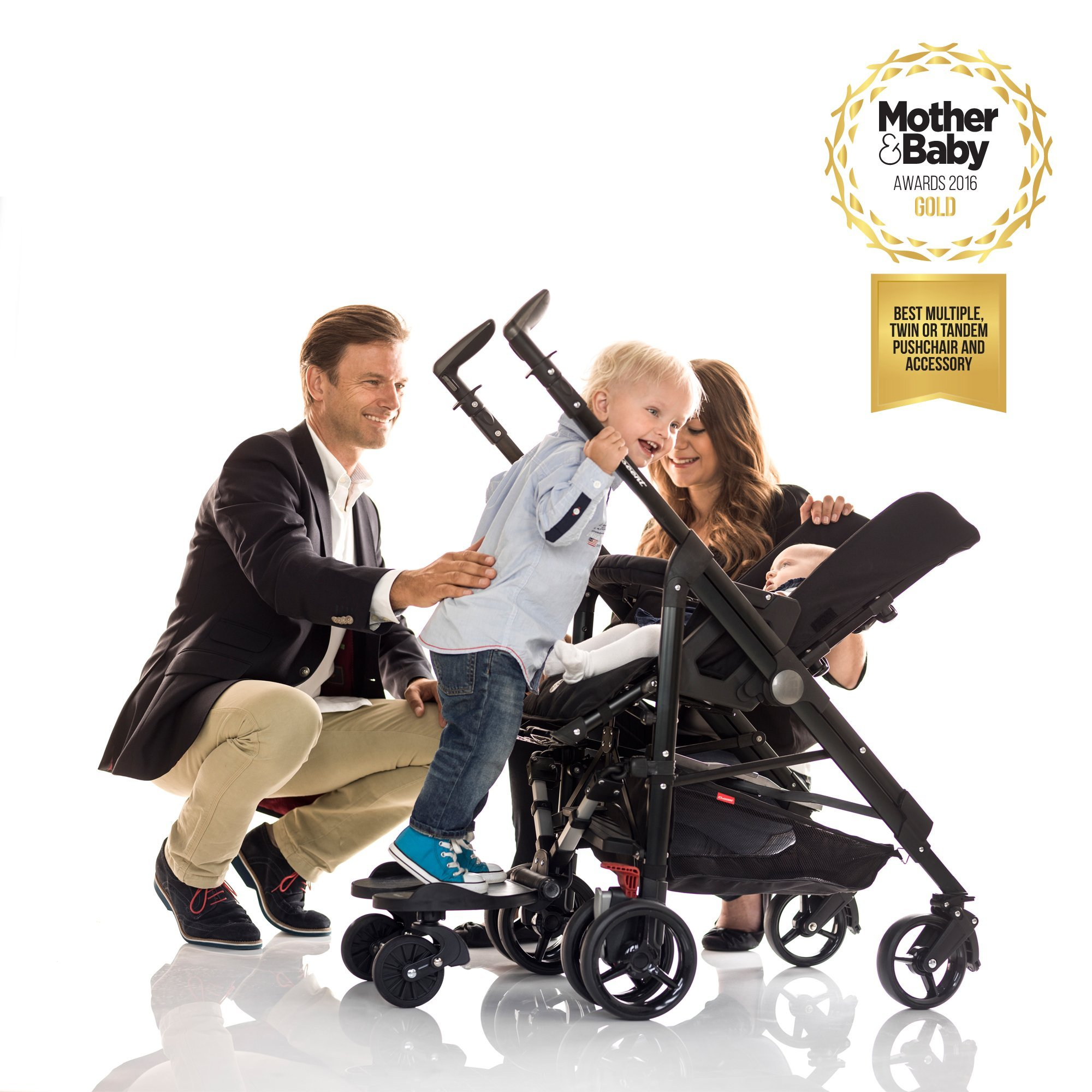 Toddler Board for Prams & Strollers (Black) - 2 - 5 Years