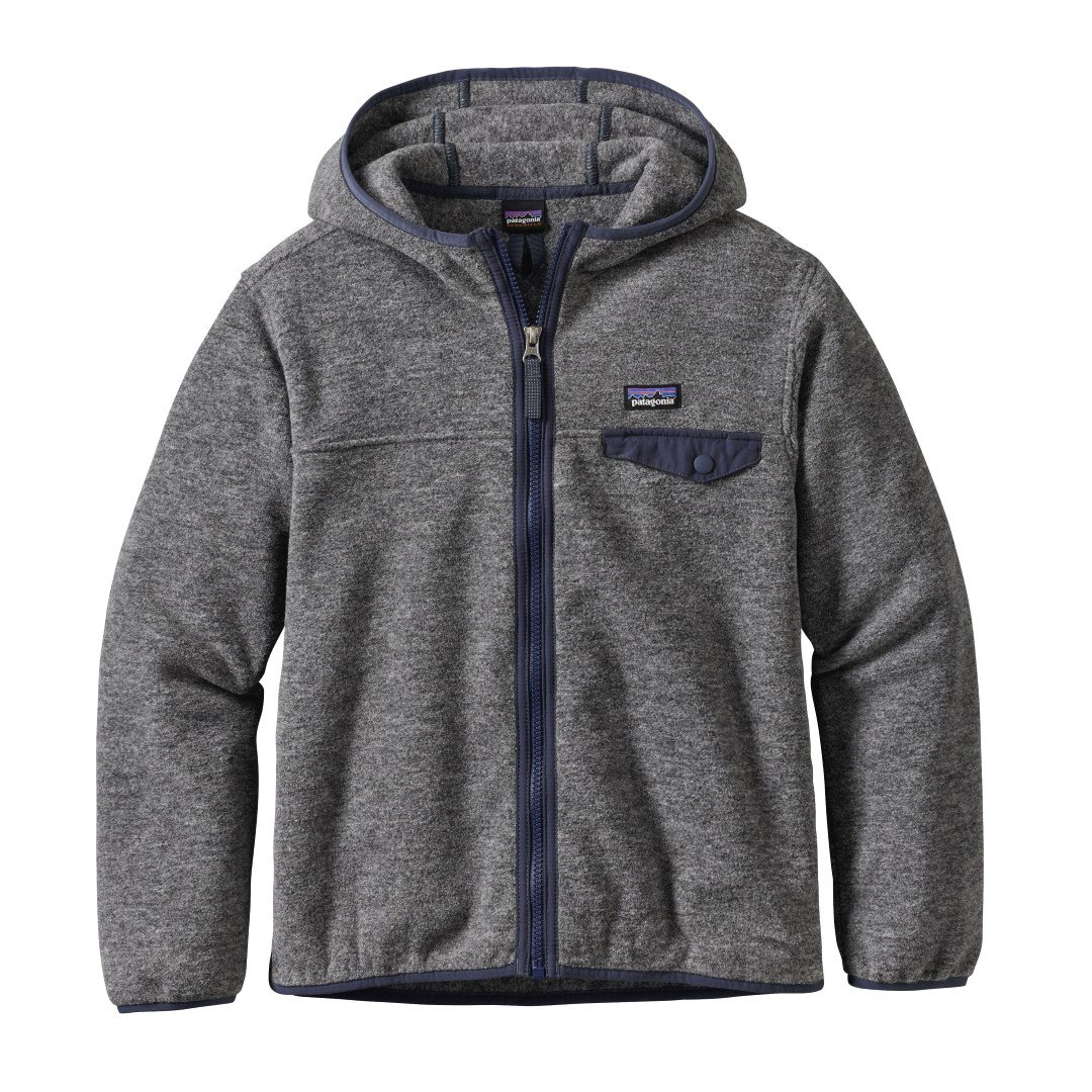 Patagonia Boys' Lightweight Synchilla Snap-T Fleece Hoodie (S, Nickel) by Patagonia