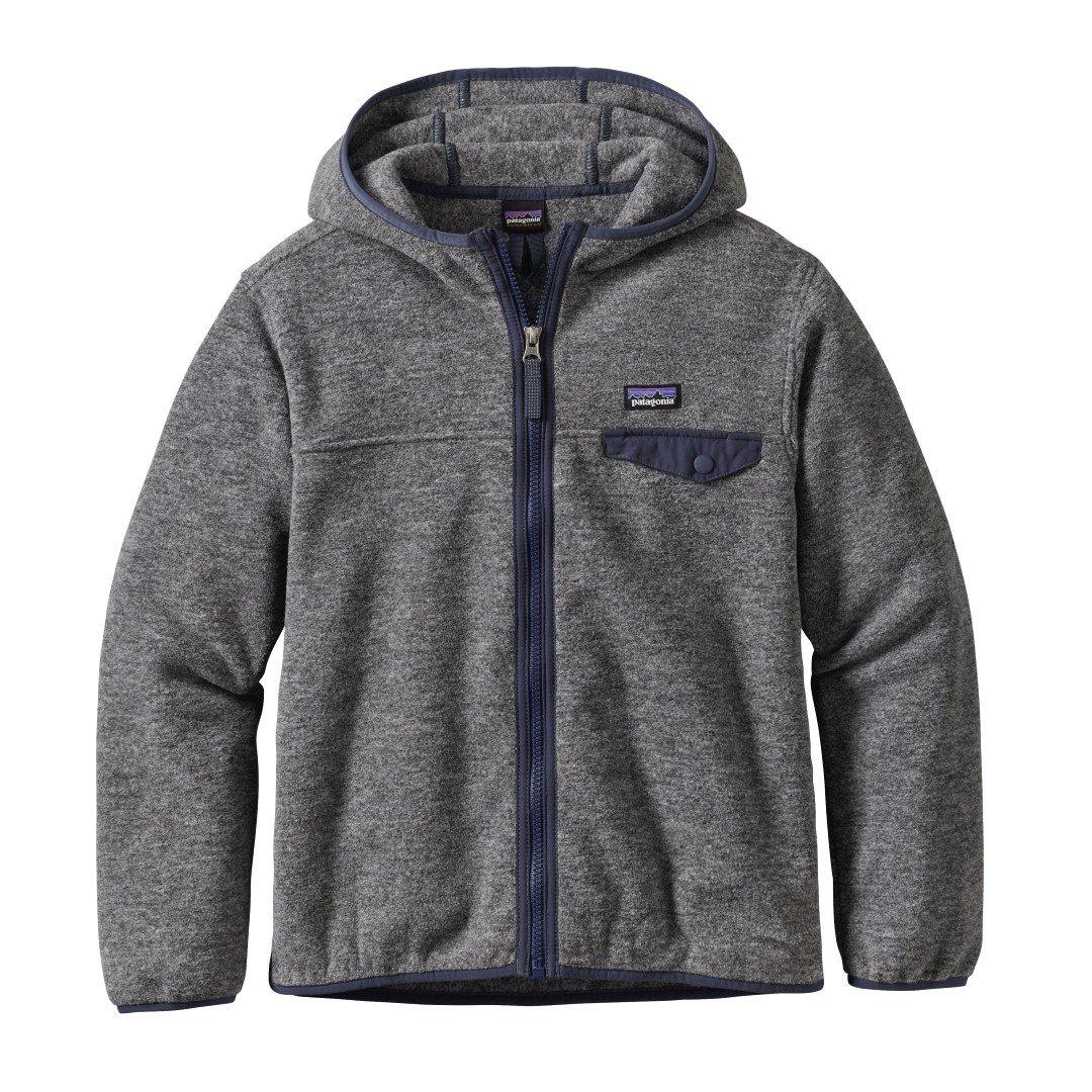Patagonia Boys' Lightweight Synchilla Snap-T Fleece Hoodie (M, Nickel)