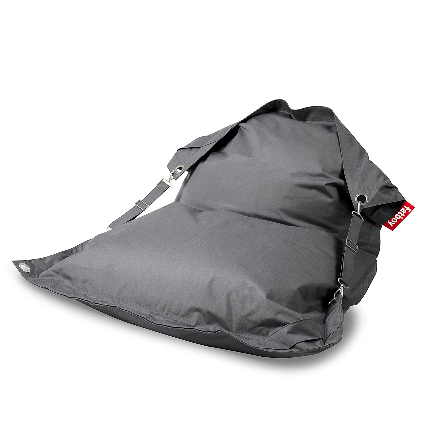 Charcoal Fatboy Buggle-Up Indoor Outdoor Bean Bag Lounge Chair