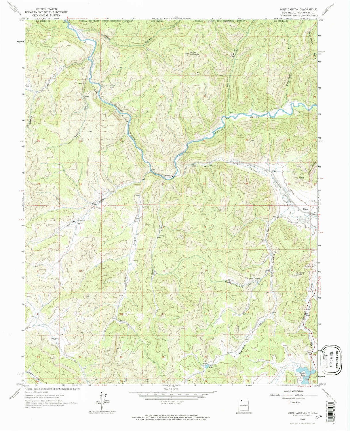 Amazon YellowMaps Wirt Canyon NM topo map 1 Scale 7 5 X