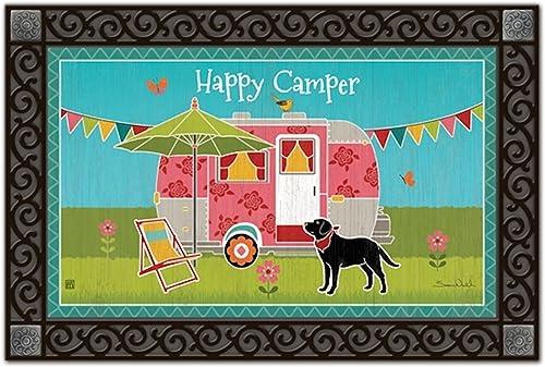 Camping Out Summer Doormat Camper Indoor Outdoor MatMates 18 x 30