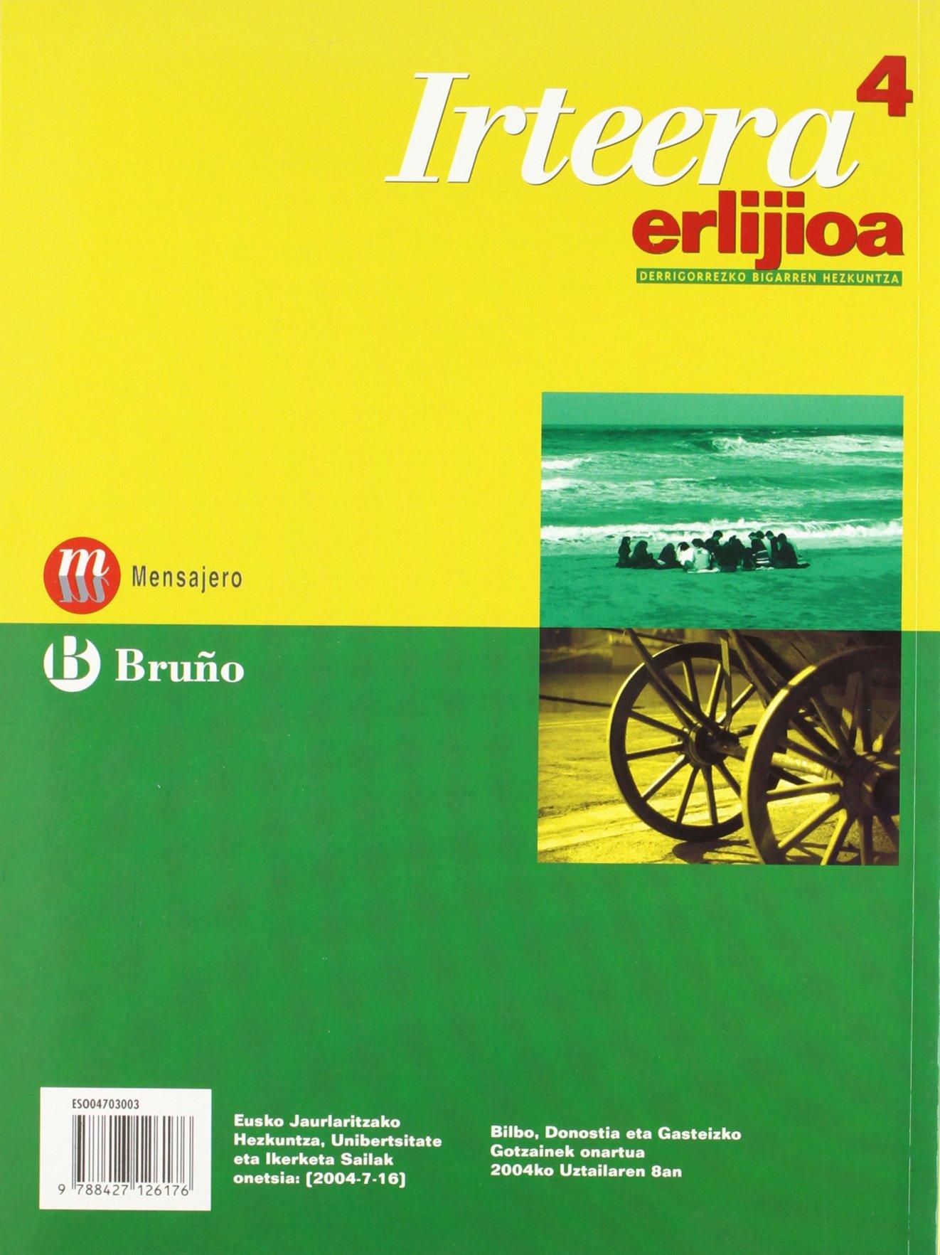 Erlijioa Irteera 4 DBH - 9788427126176: Amazon.es: Bueno Heras ...