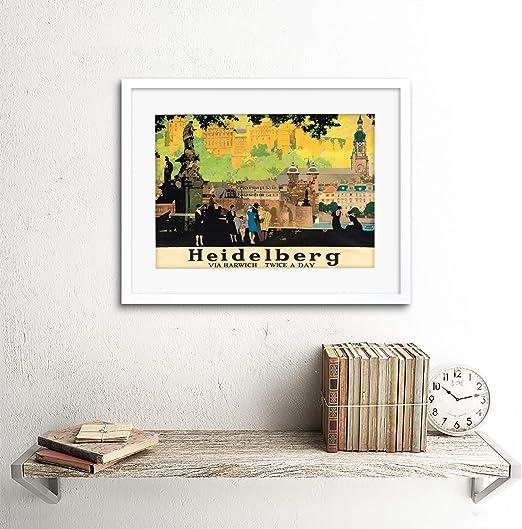 HEIDELBERG RAIL CITY Poster Painting Canvas art Prints