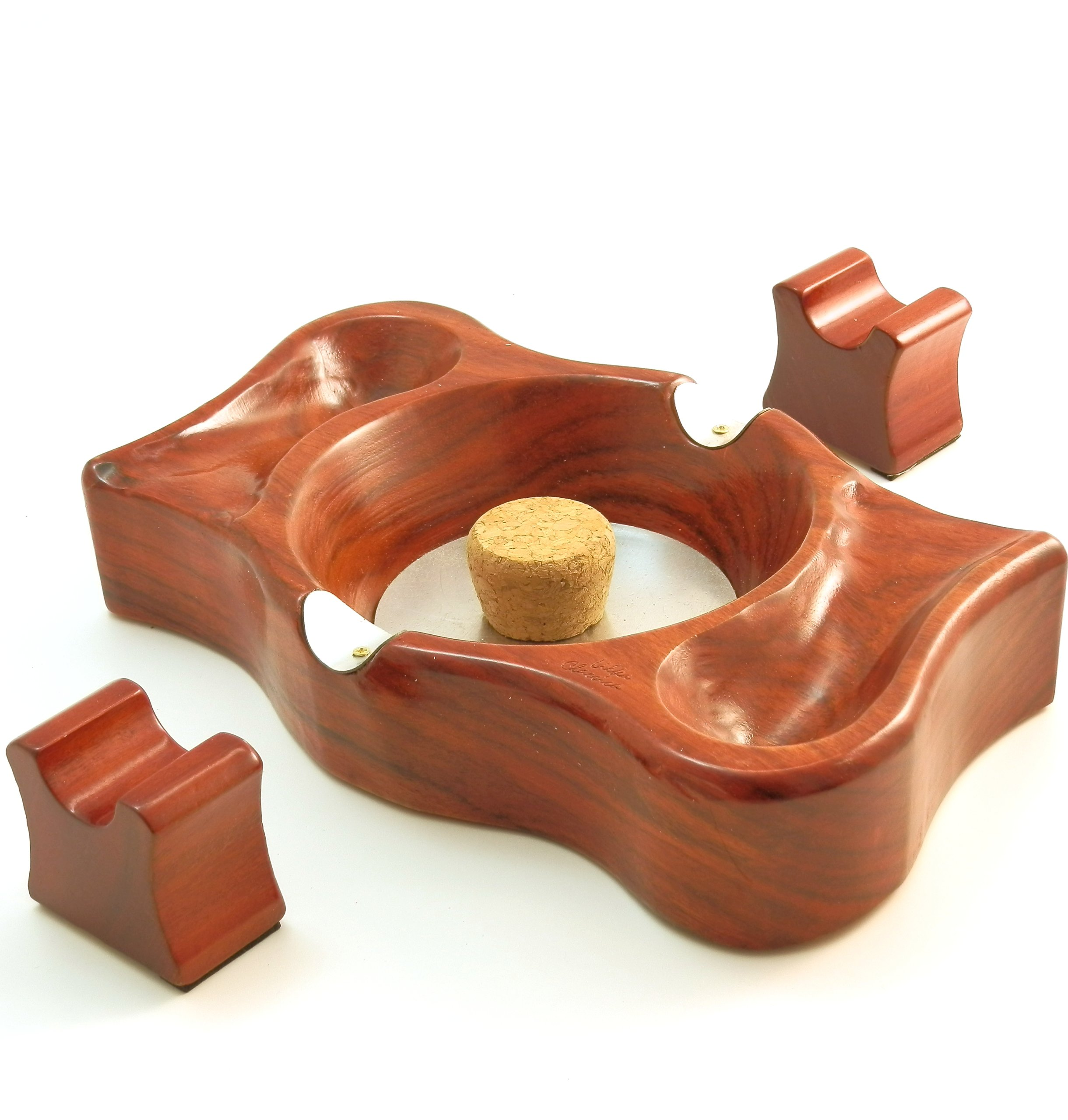 Tobacco Pipe and Cigar Ash Tray & Stand Combo