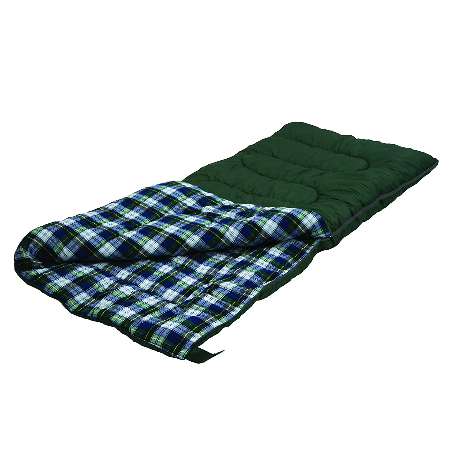 Stansport Weekender 4 Lb. Rectangular Sleeping Bag, 75 x 33 – Dark Forest Green