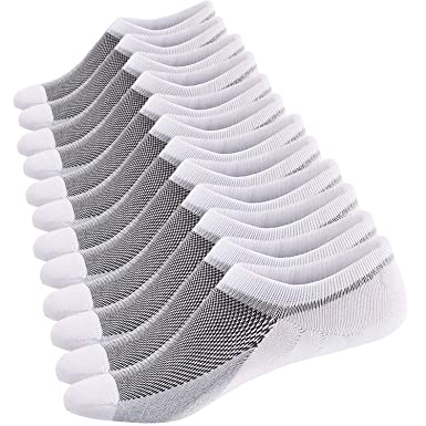 Ueither Calcetines Cortos Hombre Invisibles Respirable Calcetines tobilleros Algodón Antideslizantes: Amazon.es: Ropa y accesorios