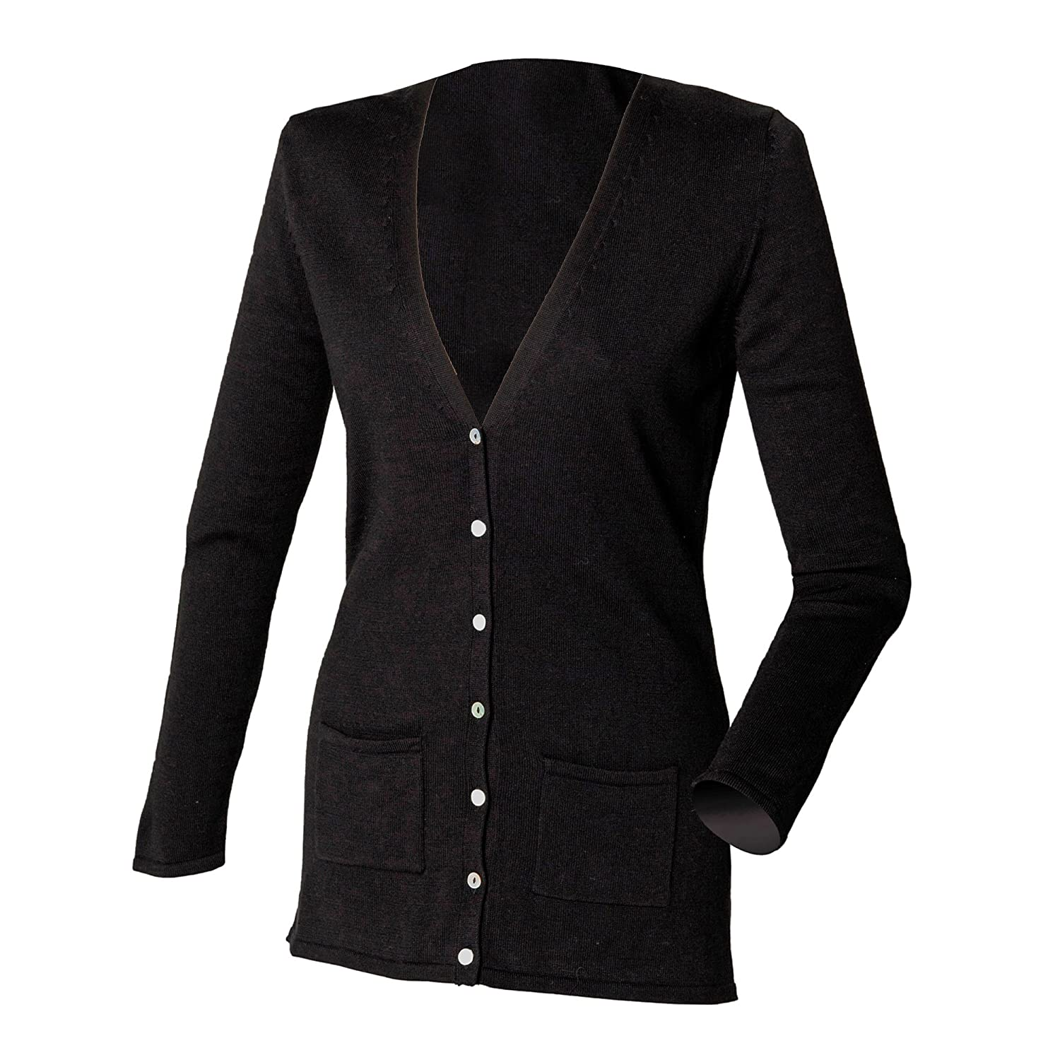 Henbury Ladies Lightweight V Cardigan: Amazon.co.uk: Clothing