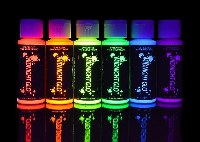 Original Flower of Life Handmade 14x11 Fluorescent Spray Paint Blacklight Art