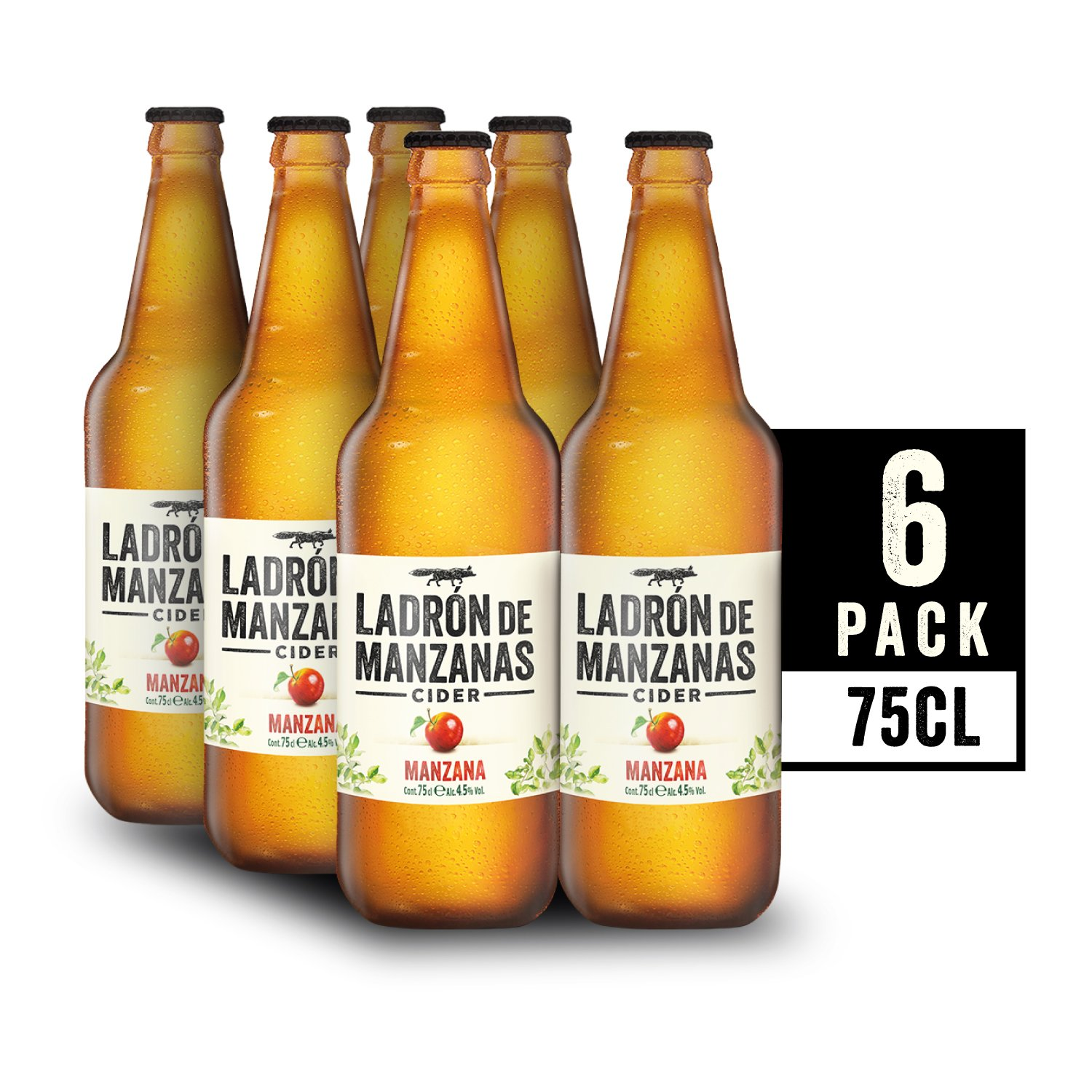 Ladrón de Manzanas Cider - Caja de 6 Botellas x 750 ml - Total: 4.5 L: Amazon.es: Amazon Pantry