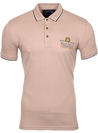 Reslad Polo-Shirt Herren Slim Fit Designer Polo-Hemd Kurzarm-Shirt RS-5201:  Amazon.de: Bekleidung