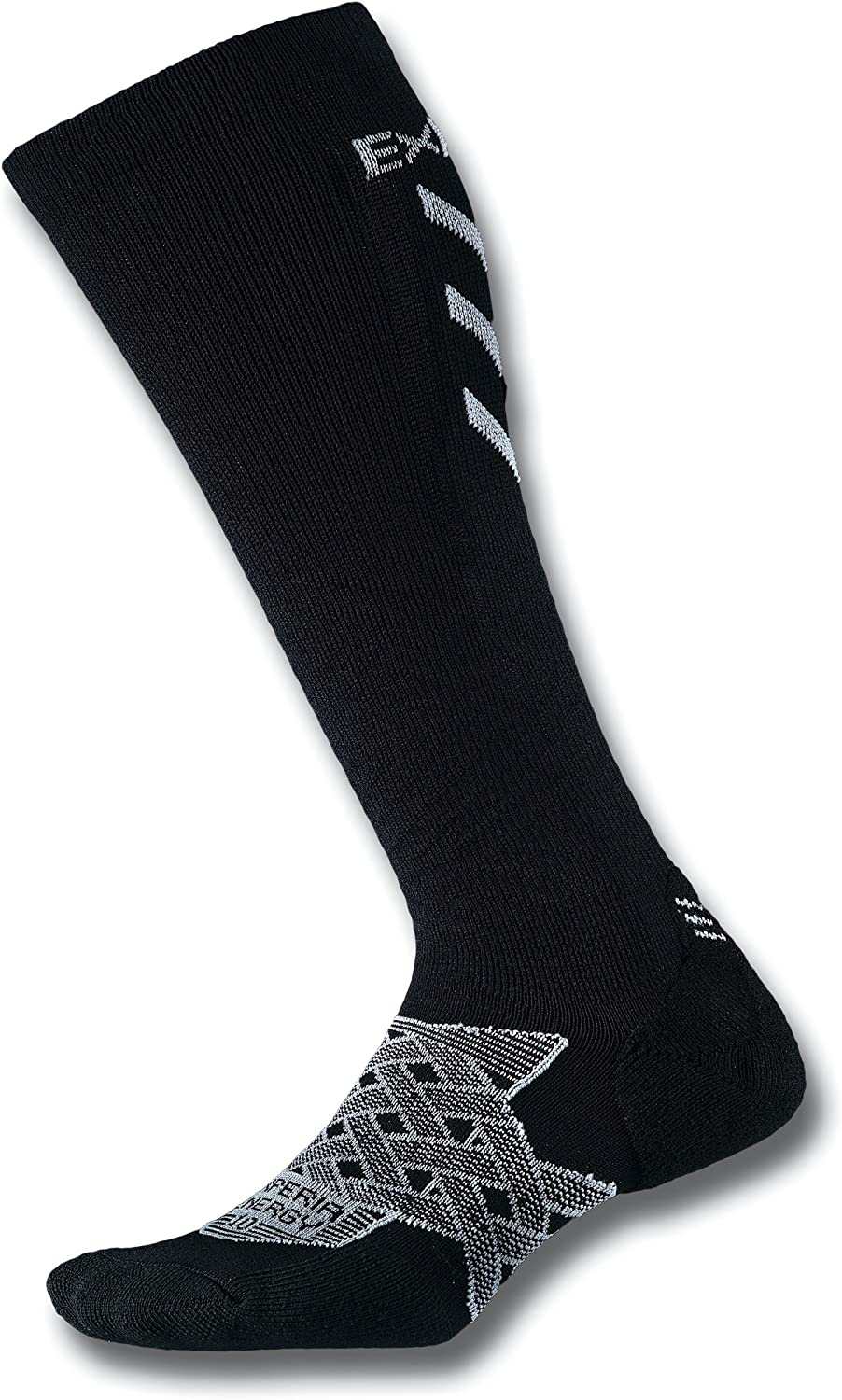Thorlos Experia mens Energy Xeou Thin Cushion Running Compression Over the Calf Socks
