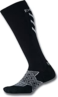 product image for Thorlos Experia Thorlo Energy Compression Running Over the Calf Socks Sockshosiery, Black, Small