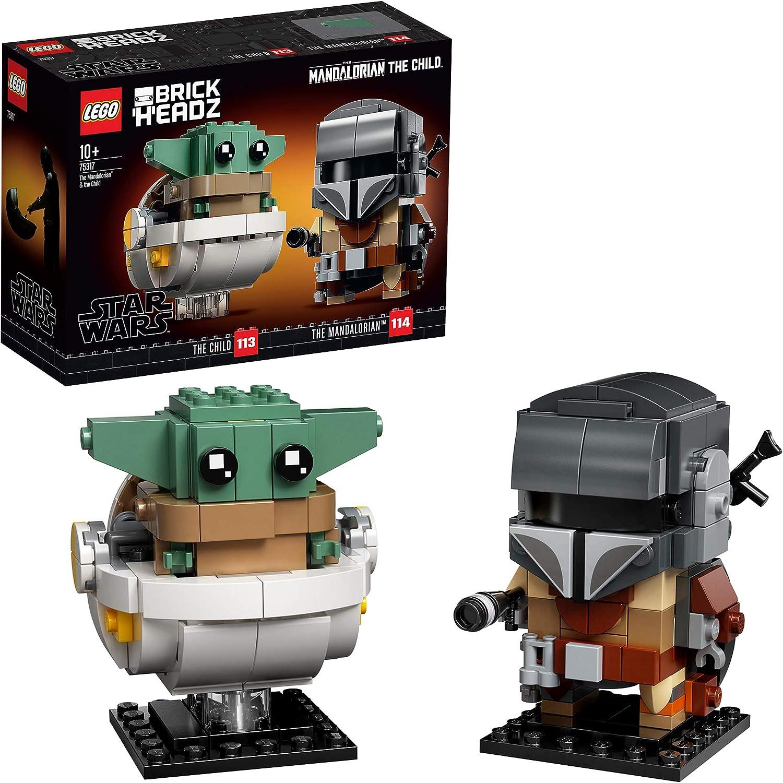 LEGO Star Wars BrickHeadz - El Mandaloriano y El Niño, Set de Construcción con los Personajes de Mandalorian, incluye a Baby yoda, Juguete del Universo Star Wars (75317)