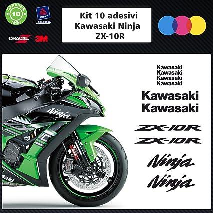 10 adhesivos kawasaky ninja zx para MOTO 10r-- --- stickers ...