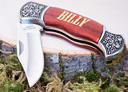 Amazon.com: Cuchillos de bolsillo personalizados – Cuchillos ...