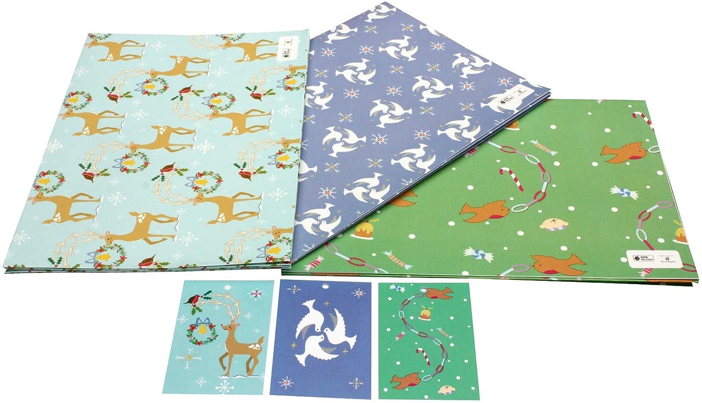 re-wrapped – Bundle 1 – diseño de reno, palomas de Navidad y