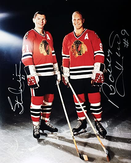 c0d065cb9 Bobby Hull and Stan mikita 8x10 Autographed Photograph - Chicago ...