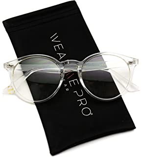 wearme pro transparent clear frame round glasses
