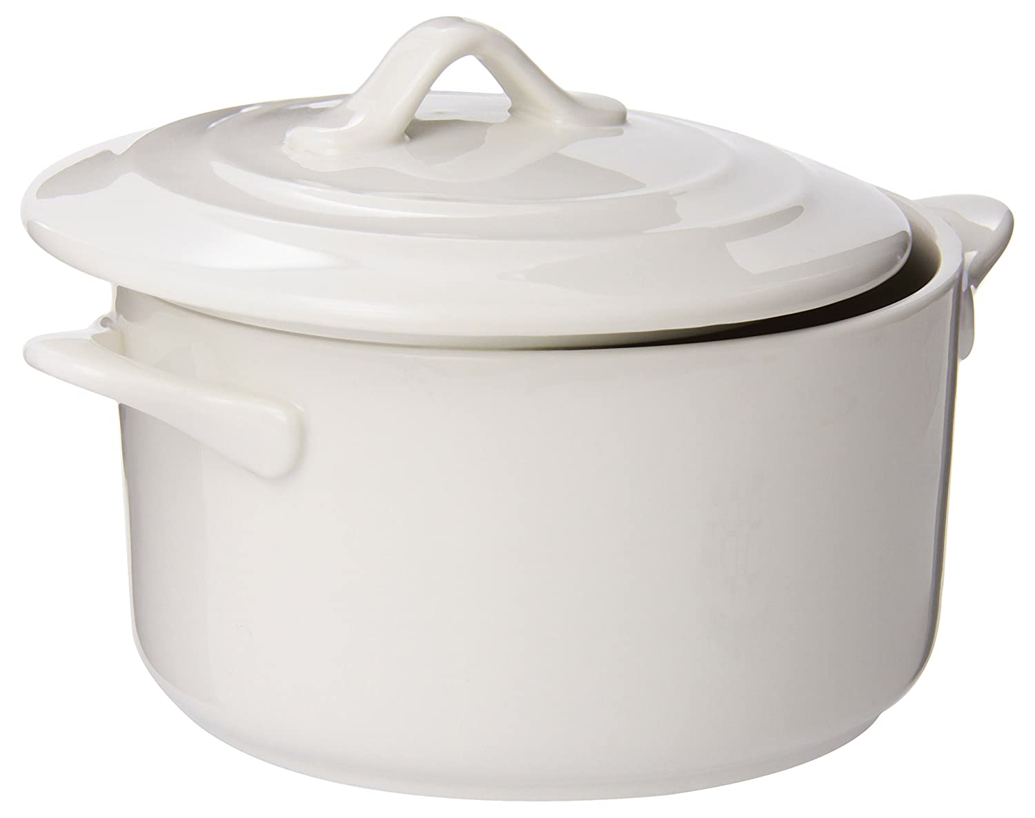 Maxwell and Williams TP72012 20.5-Ounce Basics Oven Chef Round Casserole, Mini, White Fitz and Floyd