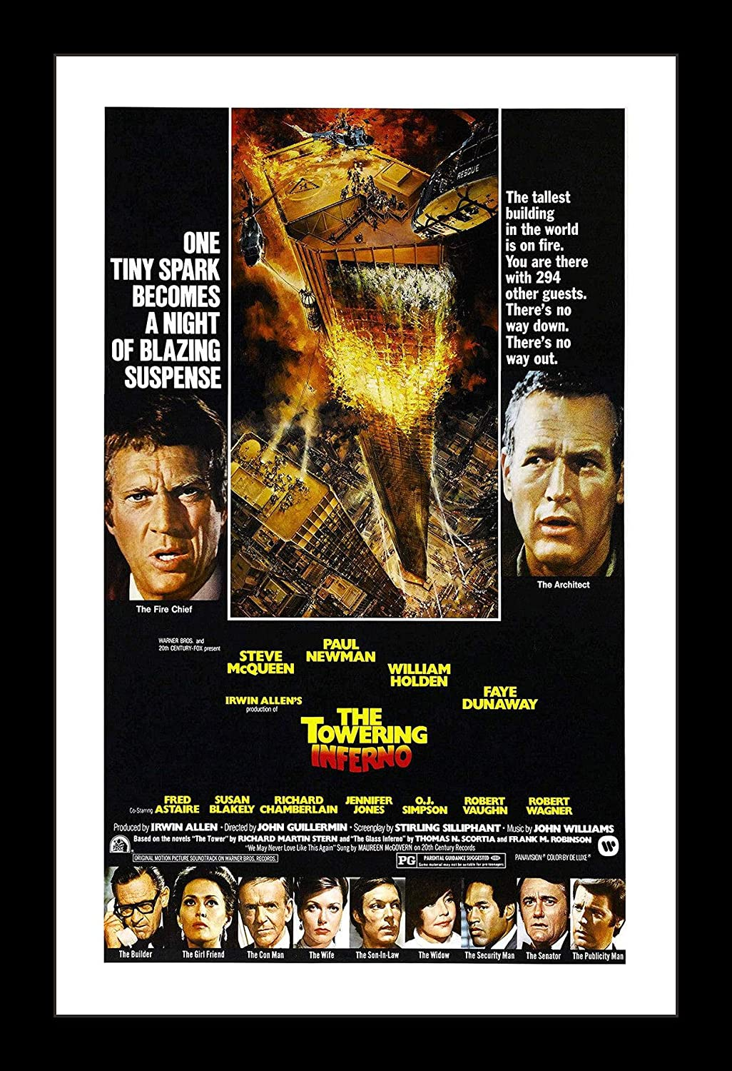 Wallspace 11x17 Framed Movie Poster - The Towering Inferno