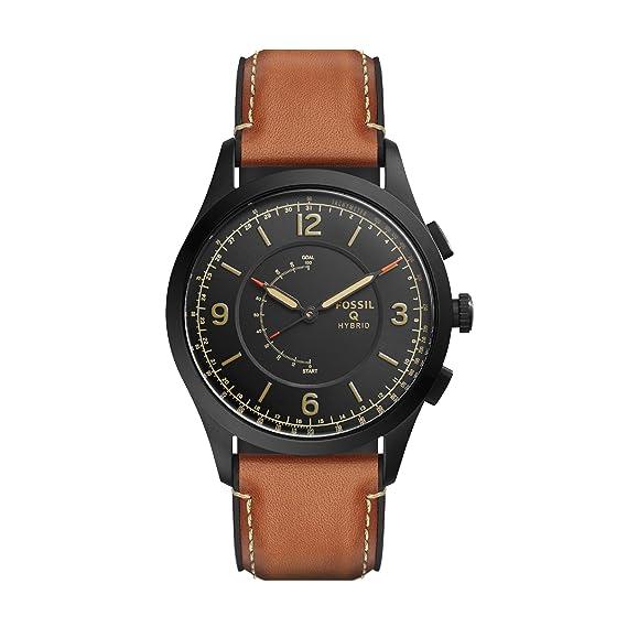 6670eb6a741e Fossil Reloj Analogico para Hombre de Cuarzo con Correa en Cuero FTW1206   Amazon.es  Relojes