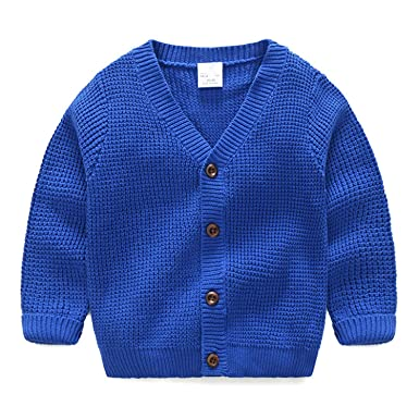 558ec7f98 Amazon.com  Rick Rogers Baby Single Breasted Sweater 2018 Autumn and ...
