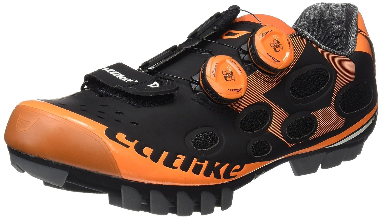 Catlike Whisper MTB 2016, Zapatillas de Ciclismo de Montaña Unisex Adulto, Negro (Black/Orange), 41 EU