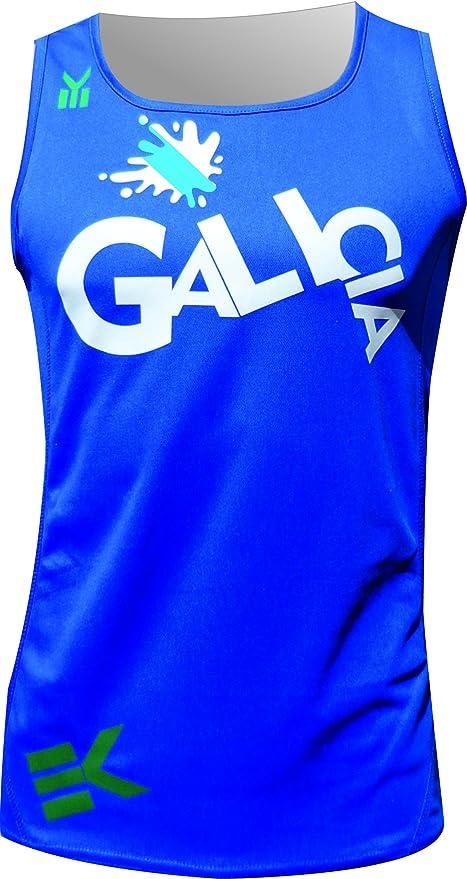 Ekeko GALICIA, camiseta de tirantes para running, atletismo y deportes de playa, muy