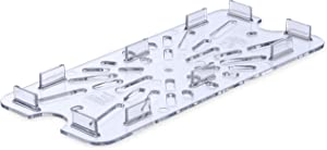 Carlisle 3067007 StorPlus Third Size Polycarbonate Drain Shelf, Clear