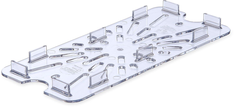 Carlisle 3067007 StorPlus Third Size Polycarbonate Drain Shelf, Clear 3067007-E