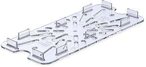 Carlisle 3067007 Polycarbonate Drain Shelf, 1/3 Size, Clear (Case of 6)