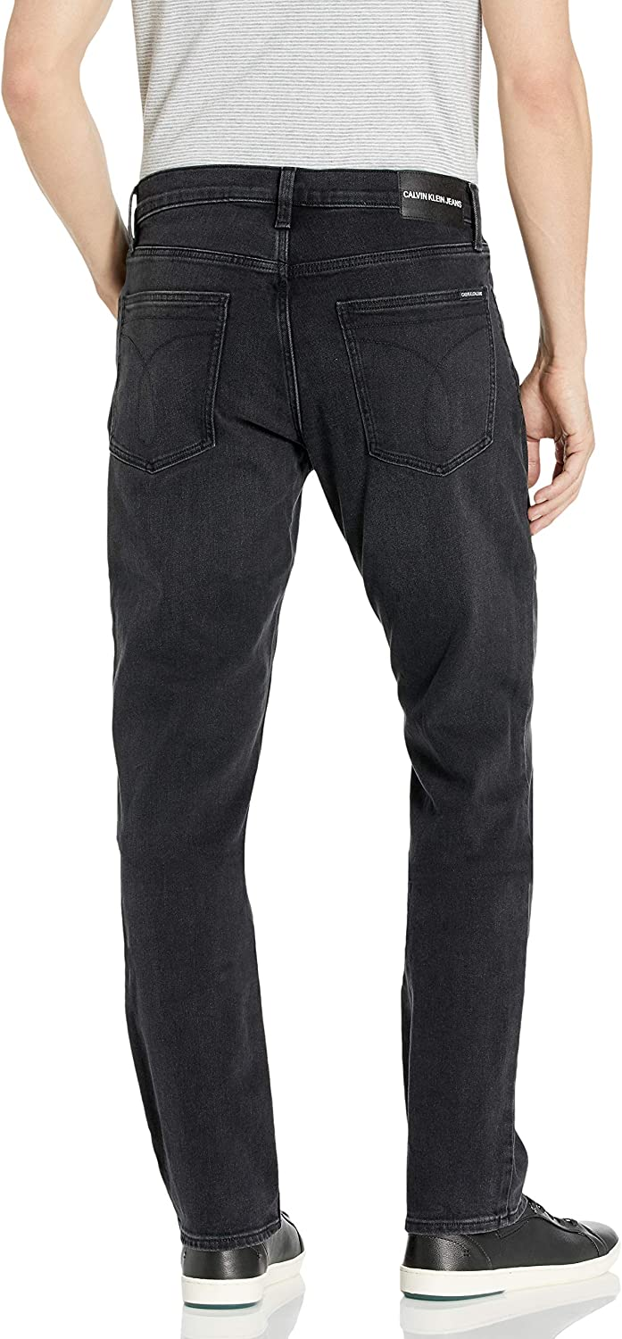 Calvin Klein Men's Straight Fit Jeans Toronto Black