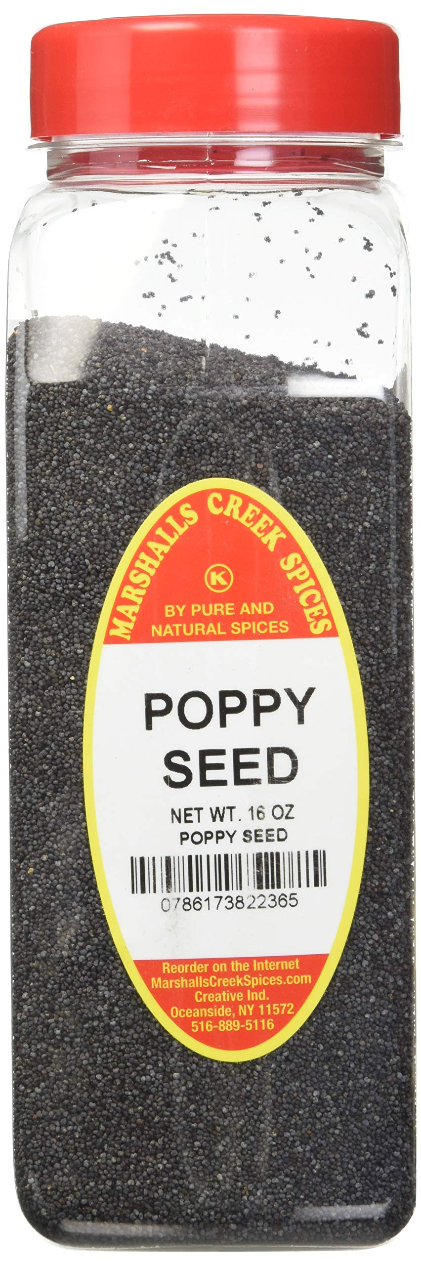 Marshalls Creek Spices Seasoning, Poppy Seed, XL Size, 16 Ounce