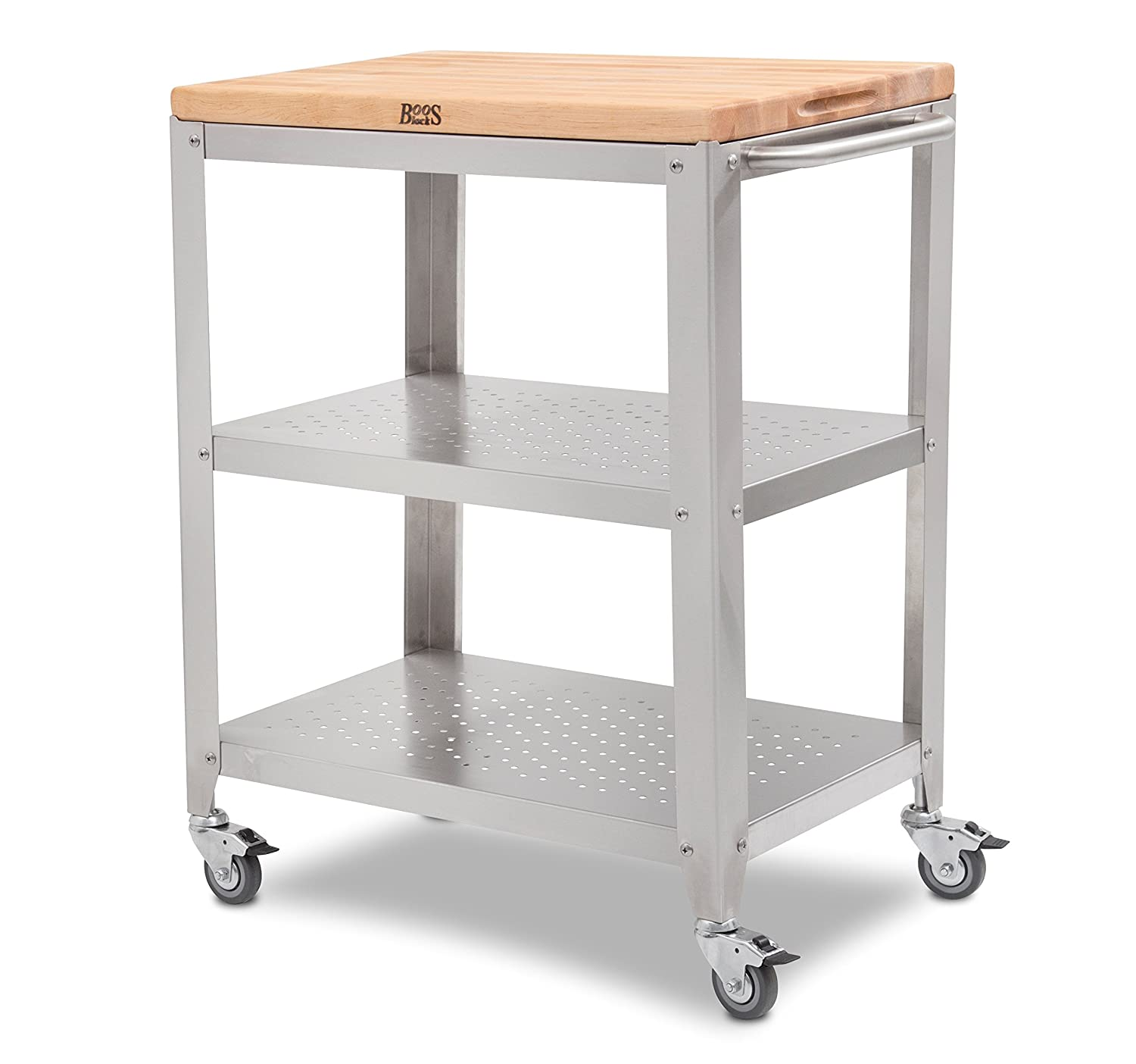 Amazon John Boos Culinarte Stainless Steel Kitchen Cart with