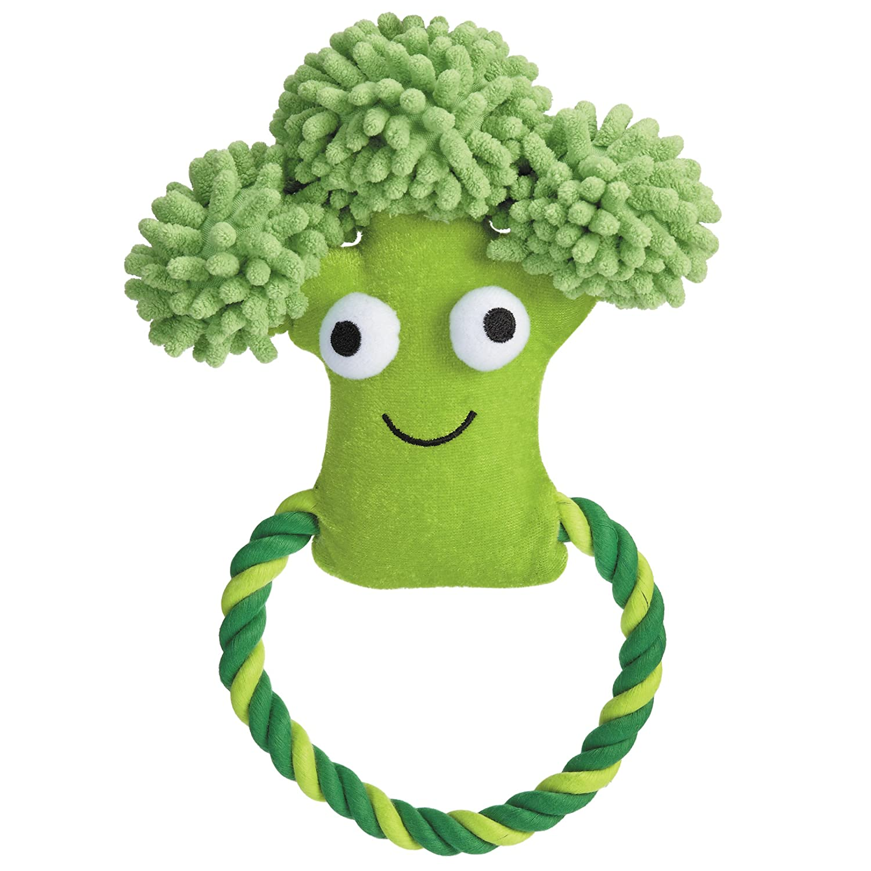 Grriggles Happy Veggies Rope Tug Broccoli