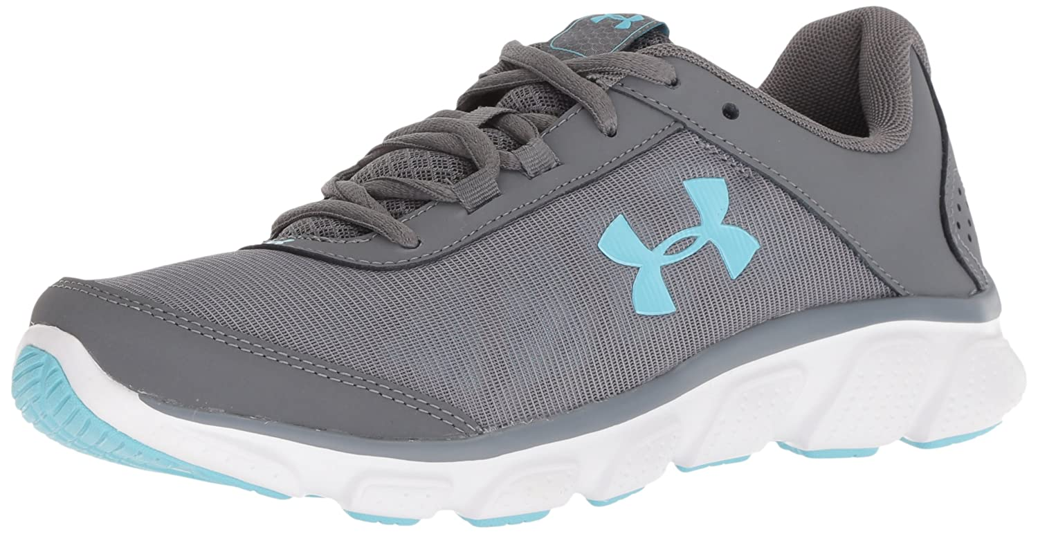 Under Armour Women's Micro G Assert 7 Sneaker, Black/White/White B071RZRCJL 6.5 M US|Gray