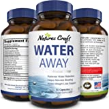 Water Away Supplement for Men and Women Natural Diuretic Pills Relieve Water Retention Fast Reduce Bloating Swelling for…