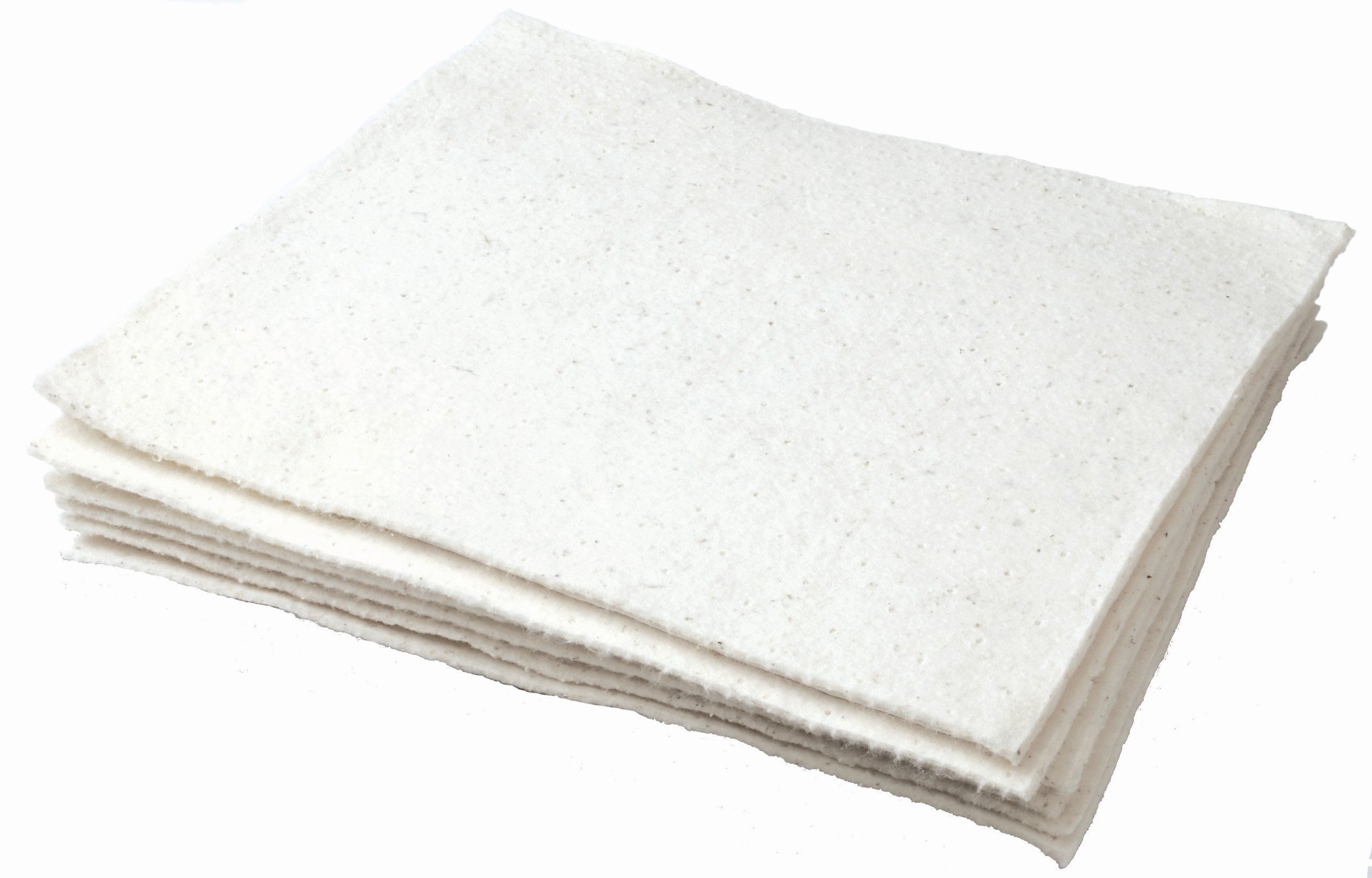 Oil Eater AOA-NBPL200-WHITE 16'' x 18'' Woven Light Weight Oil Absorbent Pad