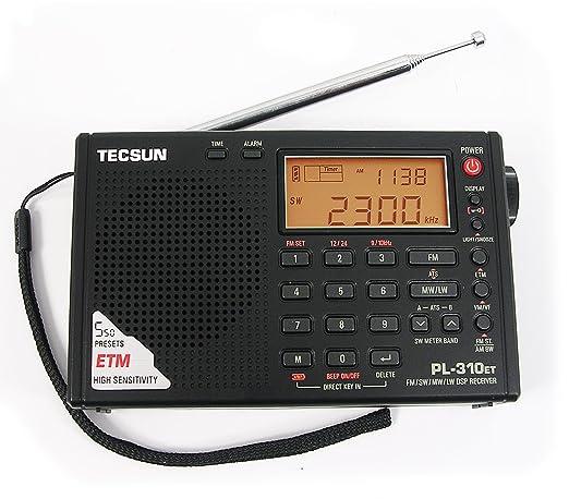 7 opinioni per TECSUN PL-310ET FM-Stereo / SW / MW / LW DSP ETM Radio.
