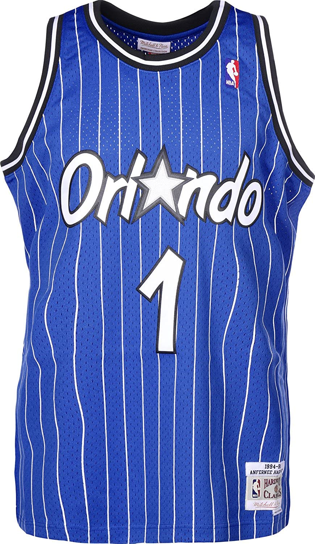 Mitchell & Ness Anfernee Hardaway  1 Orlando Magic 1994-95 Swingman NBA Trikot Blau