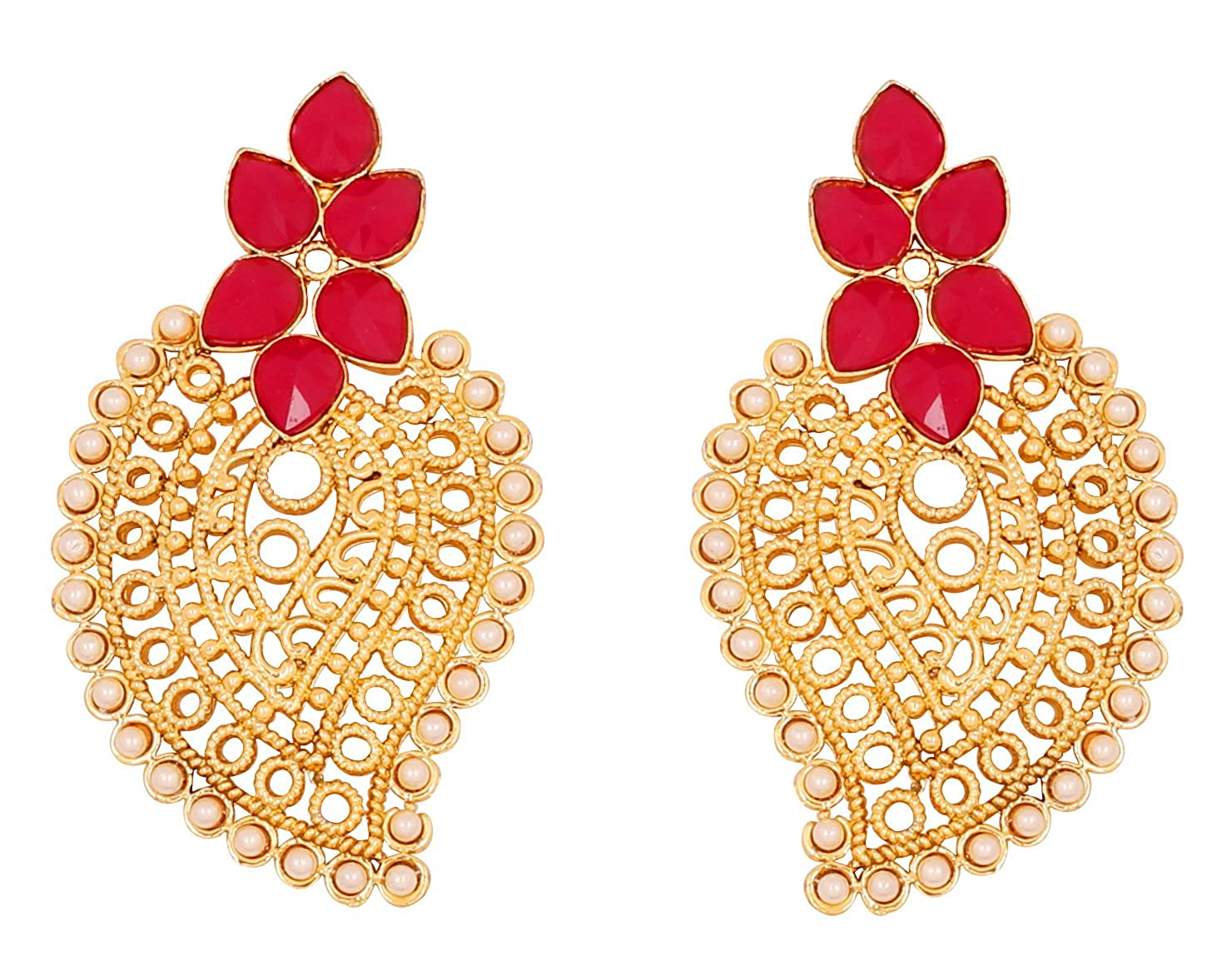 Superb Amazon Com Touchstone Indian Bollywood Faux Pearls Ruby Wired Wiring Cloud Hisonuggs Outletorg