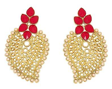 Touchstone indischen Bollywood Faux Perlen Ruby Draht Paisley Design ...